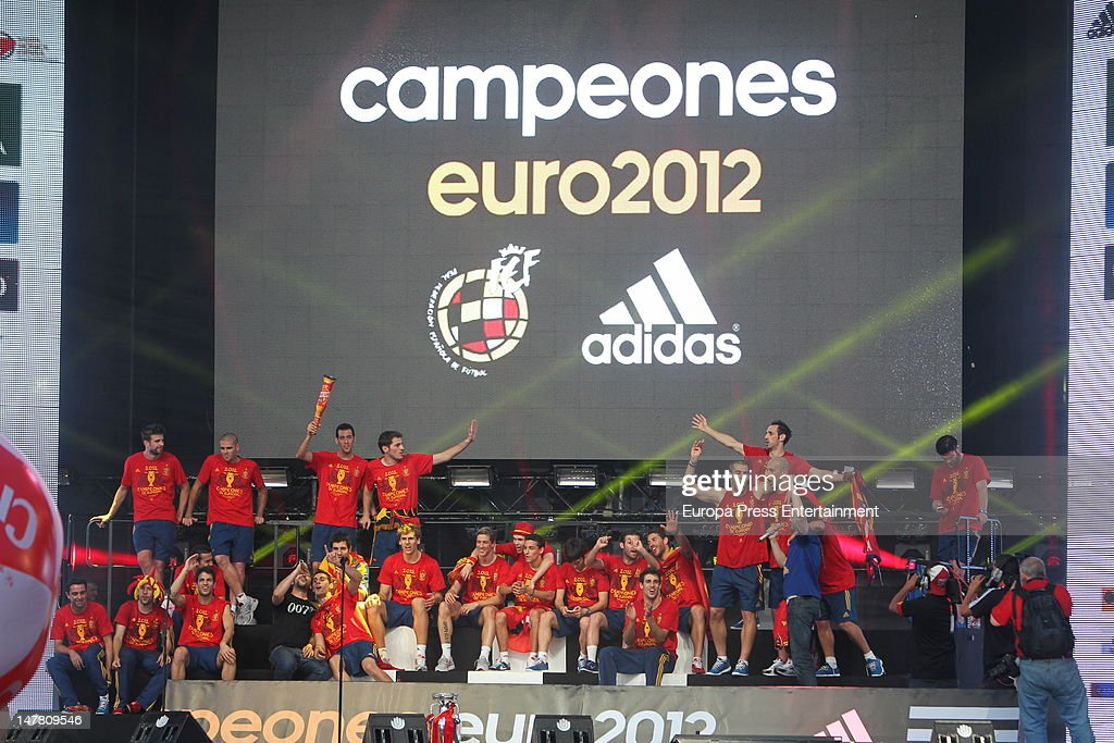 UEFA EURO 2012 Champions Spain Victory Parade And Celebrations : News Photo