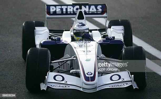 Formula 1BMW Sauber driver Germany Nick Heidfield drives the new BMW Sauber F1.06 car during its official presentation at the Ricardo Tormo racetrack...