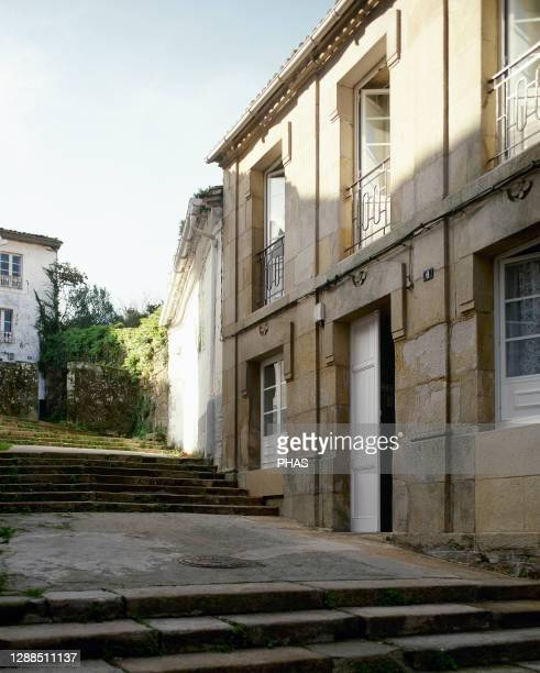 Spain. Galicia. A Coruna province. Muros. View of the Rua Igrexa .