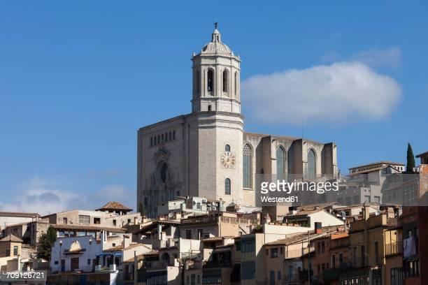 Spain, Girona, view to Cathedral of Santa Maria