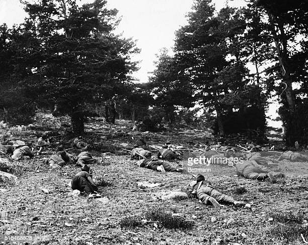 Grim Battle For The Guadarrama The grim reality of the Spanish Civil War in which even women are taking part is vividly shown in these pictures of...