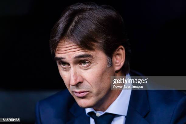 Spain head coach Julen Lopetegui looks during the 2018 FIFA World Cup Russia Final Qualification Round 1 Group G match between Spain and Italy on 02...