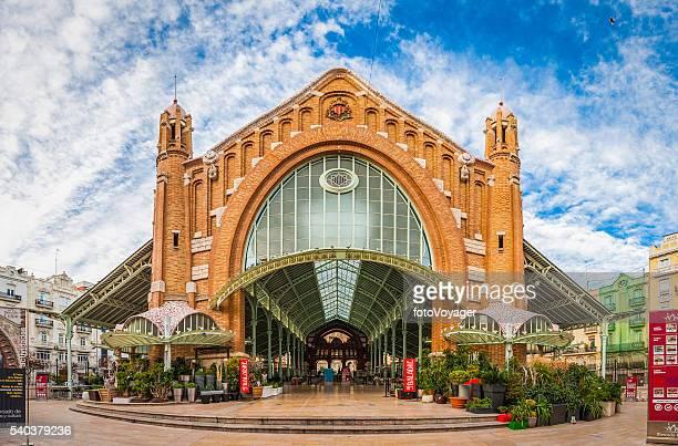 spain historic city market hall mercado colon valencia - valencia stock photos and pictures