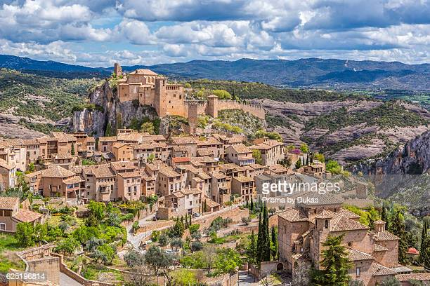 Spain Huesca Province Alquezar City San Miguel Church and Santa Maria Colegiata