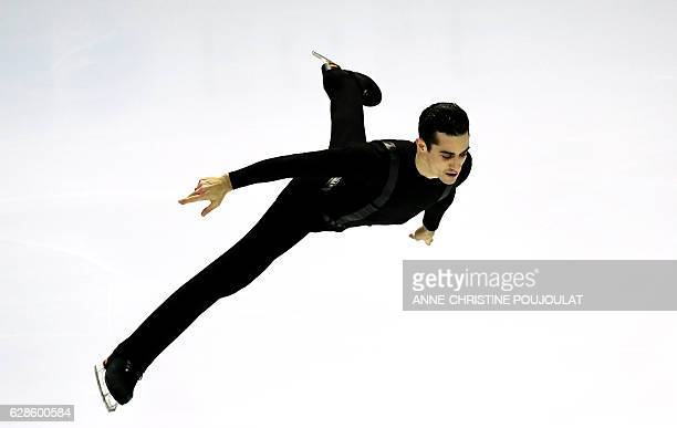 Spain Javier Fernandez competes in the senior men short program at the ISU Grand Prix of Figure Skating Final on December 8 2016 in Marseille...