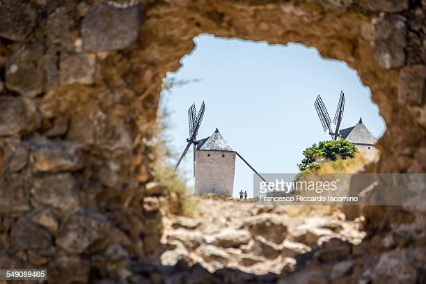 spain, la mancha. don quixote windmills - francesco riccardo iacomino spain foto e immagini stock
