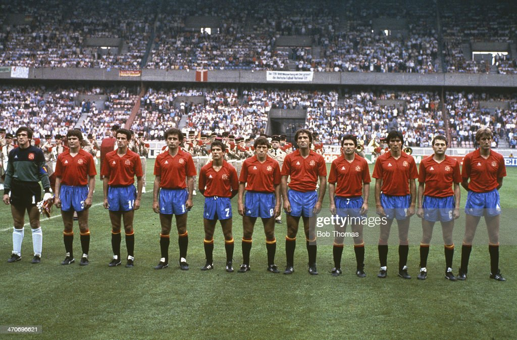 UEFA Championship, 1984 - Denmark v Spain,  Semi-Final : News Photo