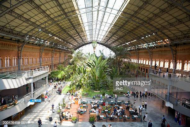 spain, madrid, atocha station, largest railway station in madrid - madrid stock pictures, royalty-free photos & images