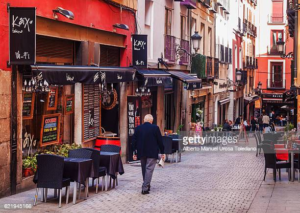 spain, madrid, citylife - barcelona street - madrid stock pictures, royalty-free photos & images
