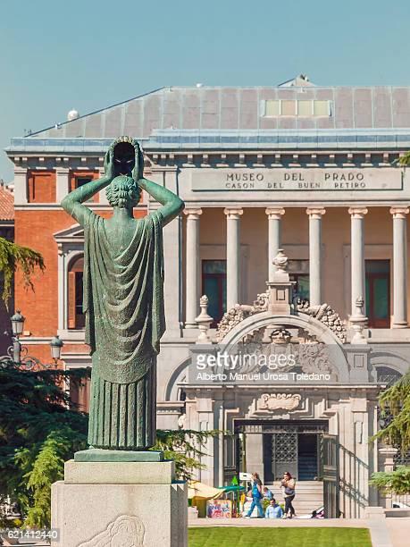 spain, madrid, el prado museum - cason buen retiro and retiro park - el prado museum stock pictures, royalty-free photos & images