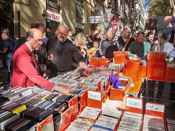 Spain, Madrid, El Rastro flea market - Music