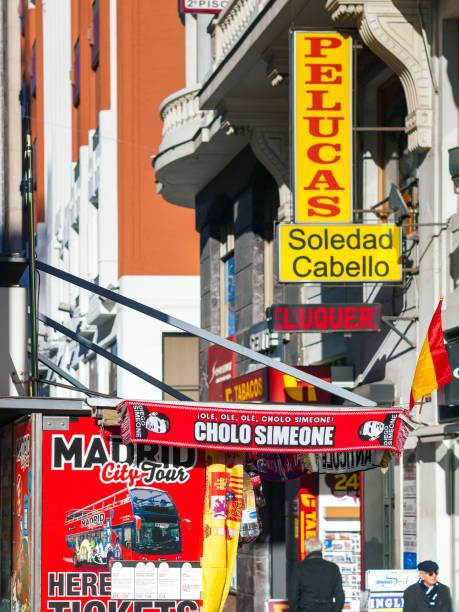 Spain, Madrid, Gran Via Avenue, Billboards