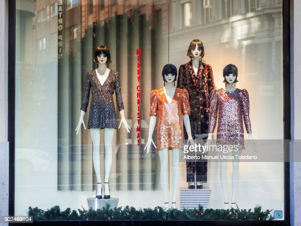 Spain, Madrid, Gran Via Avenue, Mannequins