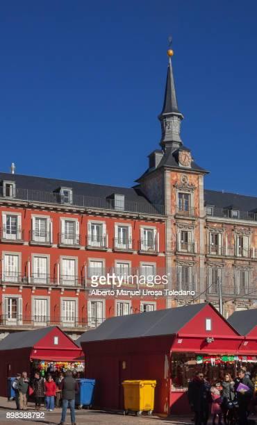 Spain, Madrid, Plaza Mayor square - Christmas Time