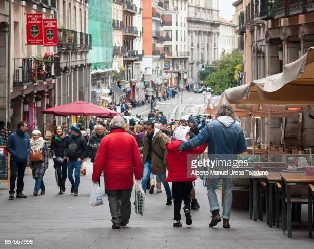 Spain, Madrid, Plaza Mayor, Toledo street