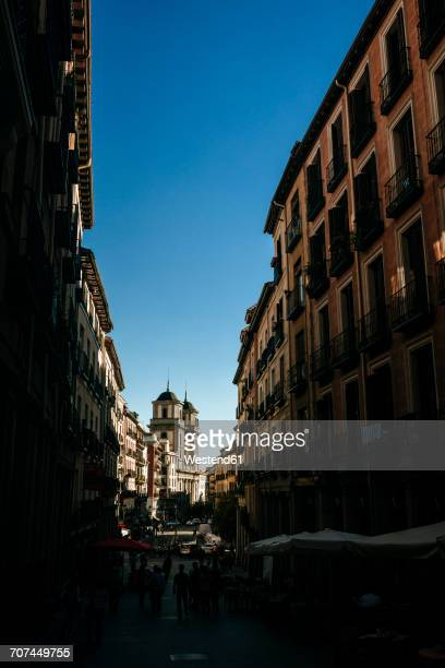 Spain, Madrid, Street De Toledo, with San Isidro Church in the background