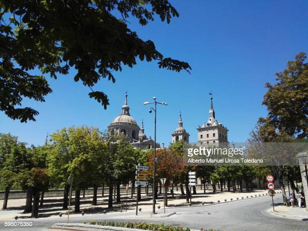 spain, madrid, the royal site of san lorenzo de el escorial - felipe vi of spain stock-fotos und bilder