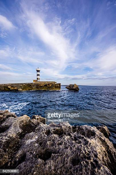 Spain, Mallorca, Colonia Sant Jordi, Lighthouse
