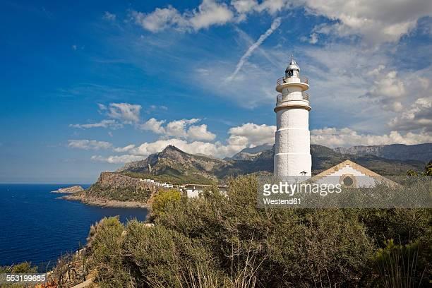 Spain, Mallorca, Port de Soller, Lighthouse of Cap Gros