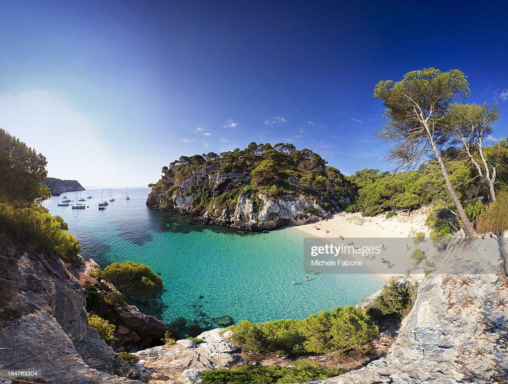 Spain, Menorca, Cala Macarelleta Beach : Stock Photo