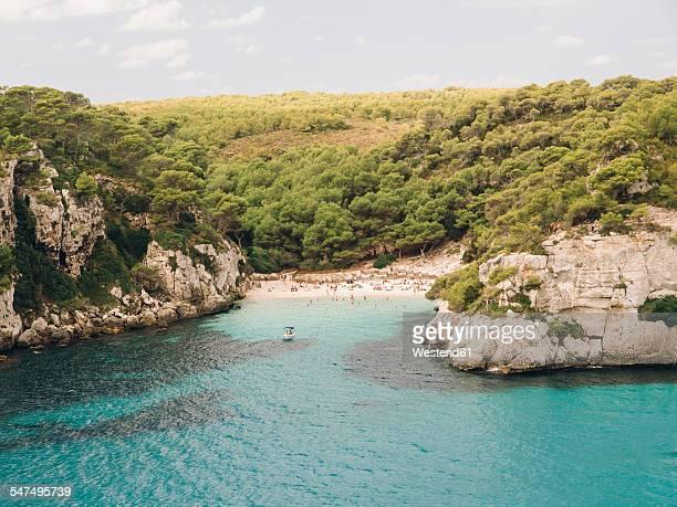 Spain, Menorca, Cala Macarelleta, View of Macarelleta beach