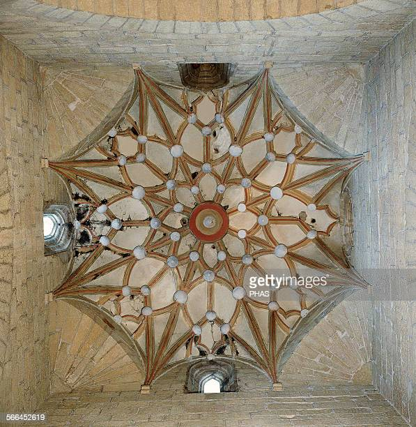 Spain Monzon Cathedral of Saint Mary of the Romeral Starry rib vault and squinch on the cruise 14th16th centuries Aragon