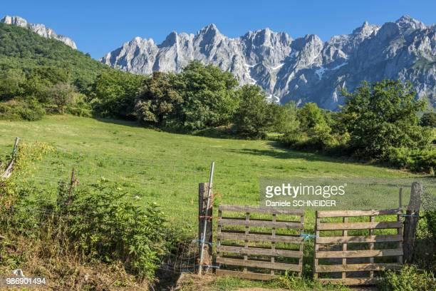 Spain, National park of los Picos de Europa from Mogrovejo