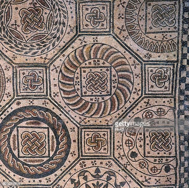 Spain Navarre Geometric mosaic From Villafranca Navarre Museum Pamplona