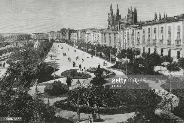 Spain, Navarre, Pamplona. Fort San Cristobal or Fort Alfonso XII. It was built on the top of the mount San Cristobal, surrounding Pamplona, after the...