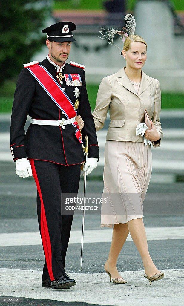 Norwegian Crown Prince Haakon and Crown : News Photo