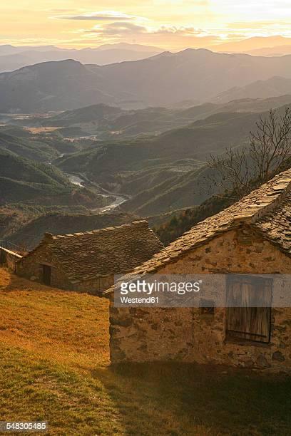 spain, ordesa national park, tella, mountainscape - cena não urbana imagens e fotografias de stock