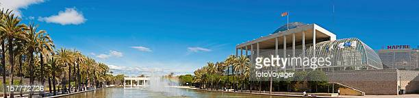 Spain Palau de la Música Jardín del Turia panorama Valencia