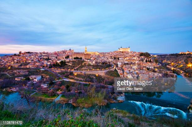 Spain, panorama view of Toledo in the sunset