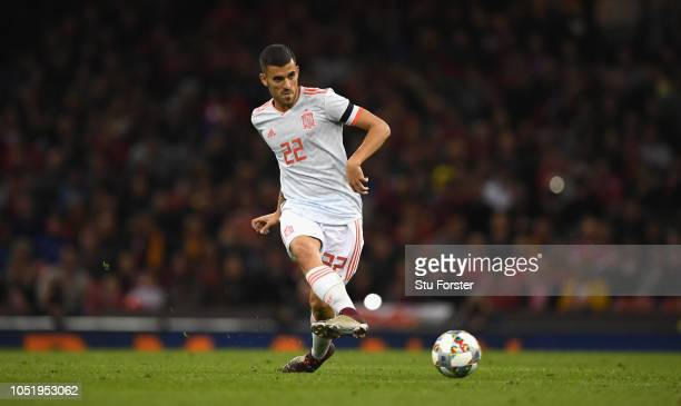 Spain player Dani Ceballos in action during the International Friendly match between Wales and Spain on October 11, 2018 in Cardiff, United Kingdom.