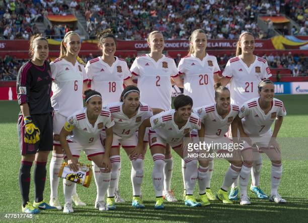Spain poses for a photo before a 2015 FIFA Women's World Cup Group E match against South Korea at Lansdowne Stadium in Ottawa on June 17 2015 AFP...