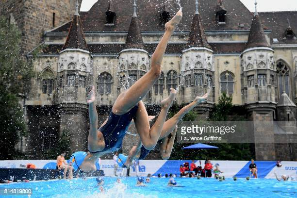 Spain practice on day two of the Budapest 2017 FINA World Championships on July 15 2017 in Budapest Hungary