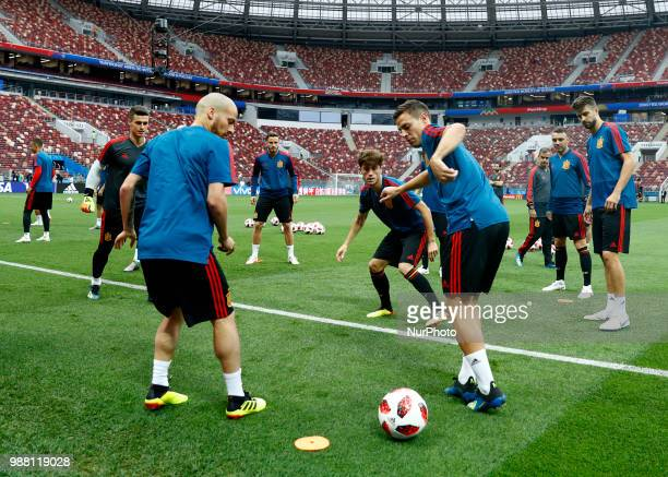 Spain press conference FIFA World Cup Russia 2018 A moment of the training at Luzhniki Stadium in Moscow Russia on June 30 2018