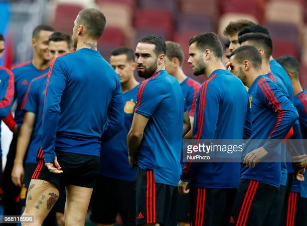 Spain press conference FIFA World Cup Russia 2018 Dani Carvajal at Luzhniki Stadium in Moscow Russia on June 30 2018