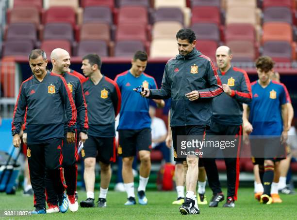 Spain press conference FIFA World Cup Russia 2018 Spain coach Fernando Hierro at Luzhniki Stadium in Moscow Russia on June 30 2018