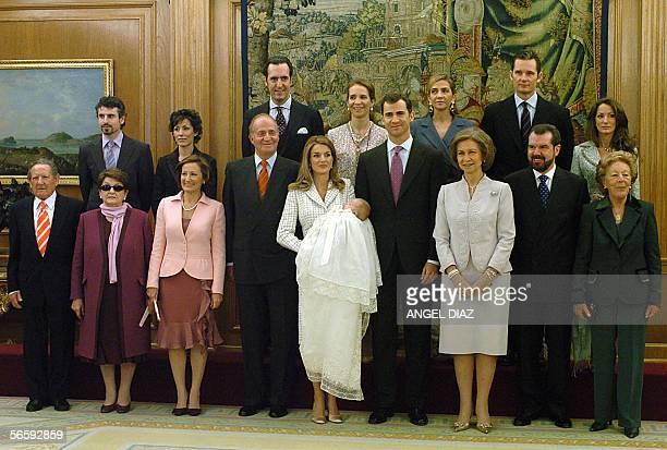 Princess Letizia's grandparents Francisco Rocasolano and Enriqueta Rodriguez Princess Letizia's mother Paloma Rocasolano Spain's King Juan Carlos...