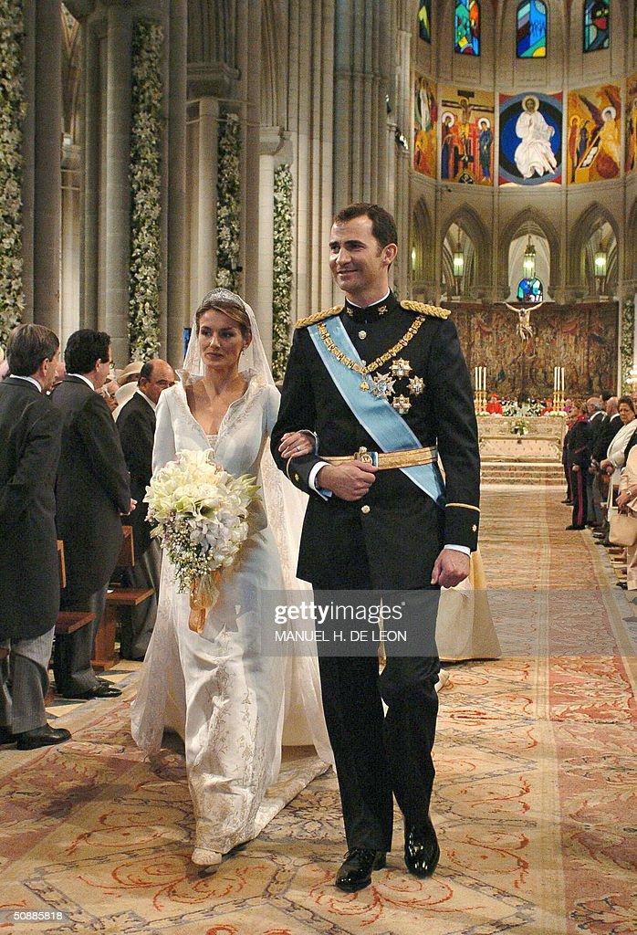 Princess of Asturias Letizia Ortiz walks : News Photo