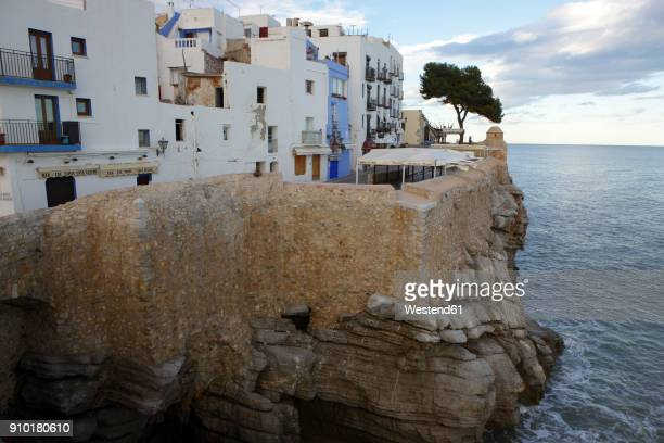 spain, province of castellon, peniscola, costa del azahar - castellon province stock pictures, royalty-free photos & images