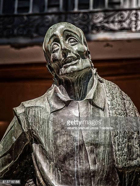 Spain, San Lorenzo de El Escorial, Crispin statue