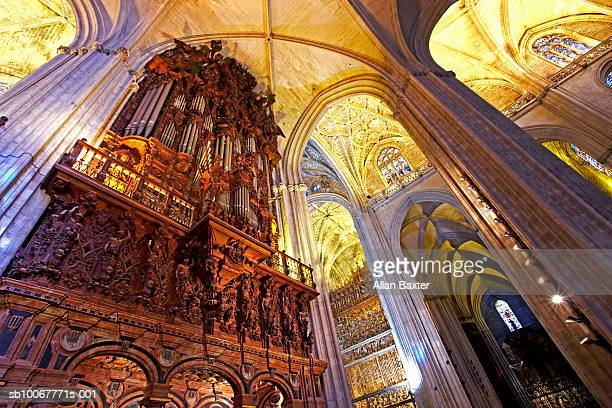 Spain, Seville, interior of Cathedral with organ