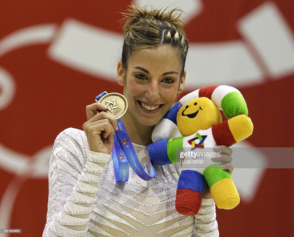 Almudena Cid Porn Video spanish almudena cid shows her gold medal after winning the