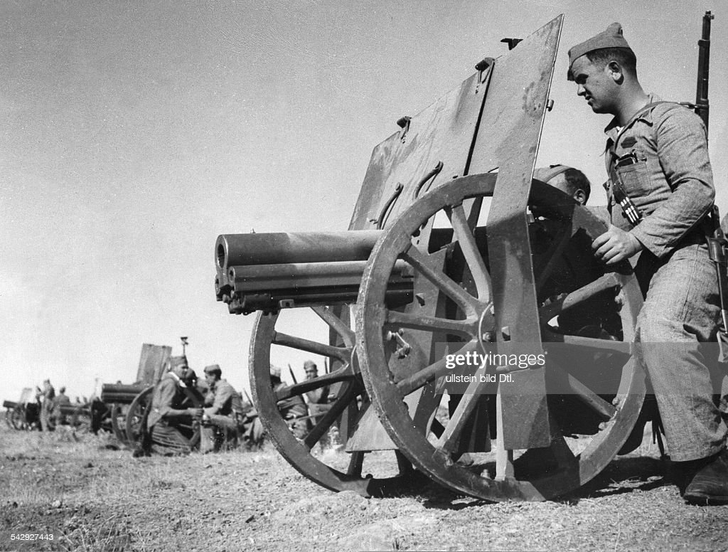 Spanish Civil War Artillery positions of the Nationalists