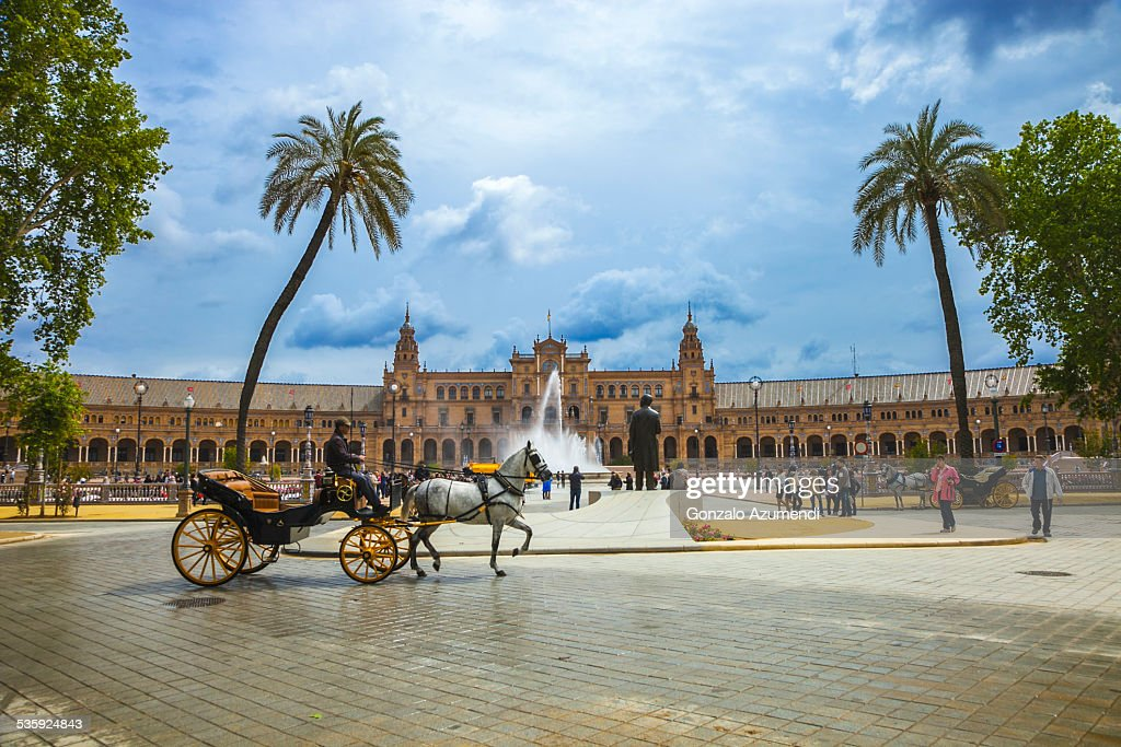 Spain Square in Seville. : Stock Photo