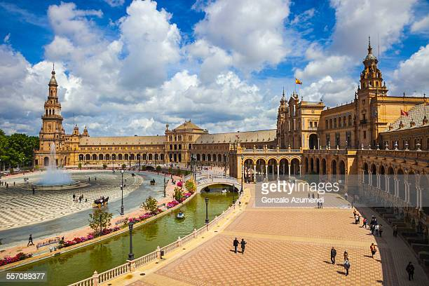 spain square in seville. - seville stock pictures, royalty-free photos & images