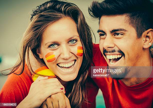 Spain supporters in the Stadium