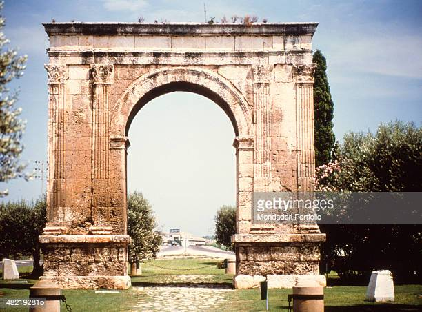 Spain Tarragona Whole artwork view Triumphal arch with one fornix